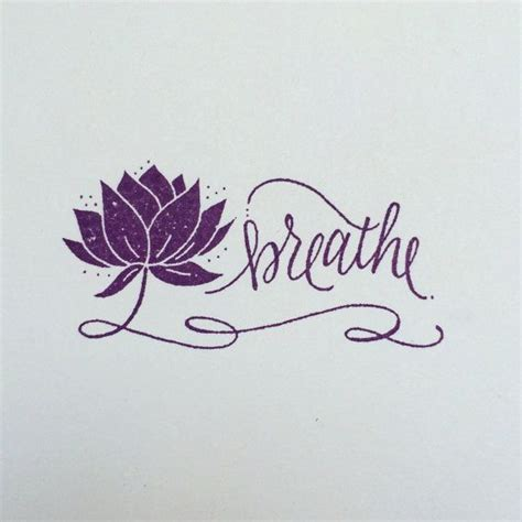 Breathe Lotus Flower Stamp – yoga rubber stamp in 2020