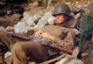 8 x 10 COLOR WW2 Photo WWII US Army Soldier M1 Carbine