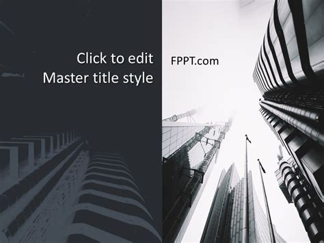 Free Architecture Project PowerPoint Template - Free