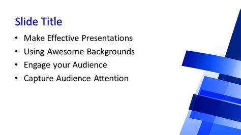 Free Background Blue PowerPoint Template - Free PowerPoint