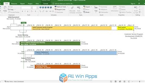 Microsoft Project 2016 Free Download - All Win Apps