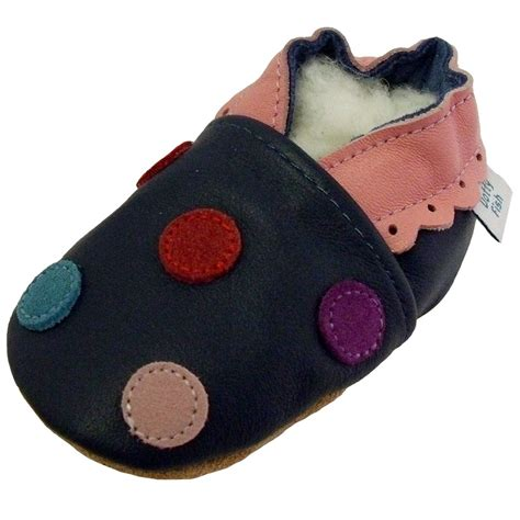 Soft Leather Baby girl Shoes with Suede Soles by Dotty